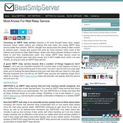 SMPT Mail Relay Service