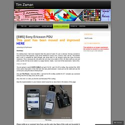 [SMS] Sony Ericsson PDU