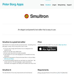 Peter Borg Apps » Smultron 4