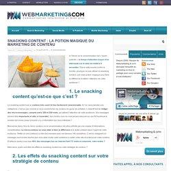Snacking content : la potion magique du marketing de contenu