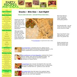 Snacks and Recipes – Party Food for You