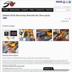 SNAGG RFID Microchip Retrofit Kit (five-pack)