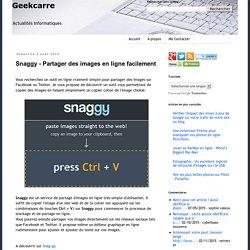 Snaggy - Partager des images en ligne facilement