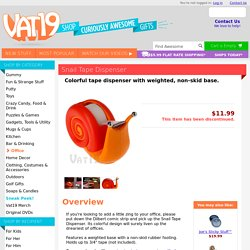 Snail Tape Dispenser: Weighted, non-skid base
