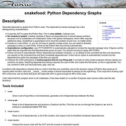 snakefood: Python Dependency Graphs