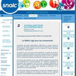SNALC - Le SNALC agit pour les contractuels