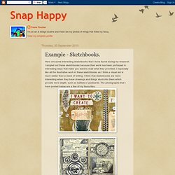 Snap Happy: Example - Sketchbooks.