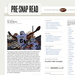 Pre-Snap Read: A College Football Blog