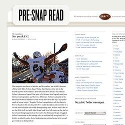 Pre-Snap Read: A College Football Blog