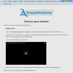 Snap4Arduino beta