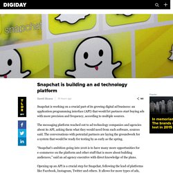 Snapchat is building an ad technology platform