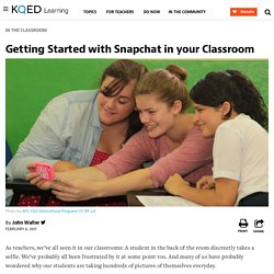 Getting Started with Snapchat in your Classroom
