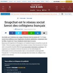 Snapchat est le réseau social favori des collégiens français
