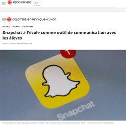 Snapchat à l'école comme outil de communication avec les élèves