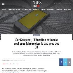 Sur Snapchat, l'Education nationale veut vous faire réviser le bac avec des GIF
