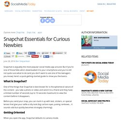 Snapchat Essentials for Curious Newbies