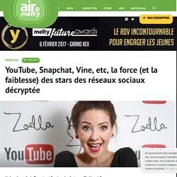 YouTube, Snapchat, Vine, etc, la force (et la faiblesse) des stars des réseaux sociaux décryptée