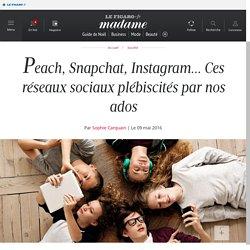 Peach, Snapchat, Instagram... Ces réseaux sociaux plébiscités par nos ados