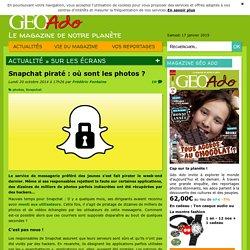 Snapchat piraté : où sont les photos ?