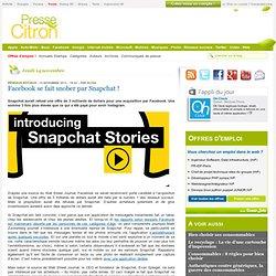 Snapchat: : pour 3 millions de dollars, t'as plus rien