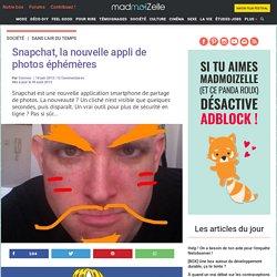 Snapchat, la nouvelle appli de photos éphémères