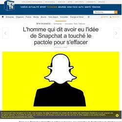 L'homme qui dit avoir eu l'idée de Snapchat a touché le pactole pour s'effacer