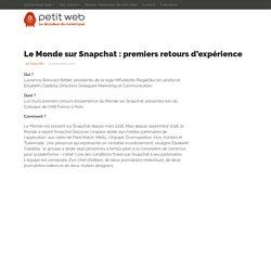 Le Monde sur Snapchat : premiers retours d'expérience