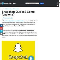 Snapchat Que es? Como funciona?