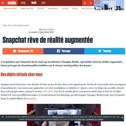 Snapchat rêve de réalité augmentée