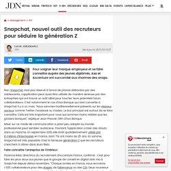 Snapchat, nouvel outil des recruteurs pour séduire la génération Z