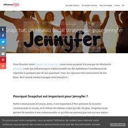 Snapchat, un réseau social stratégique pour Jennyfer