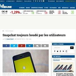 Snapchat toujours boudé par les utilisateurs