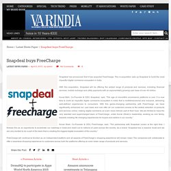Snapdeal buys FreeCharge