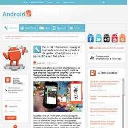 SnapPea : comment envoyer les photos de son smartphone vers son PC Android MT
