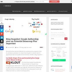 Bing Snapshot: la réponse de Microsoft à Google Authorship