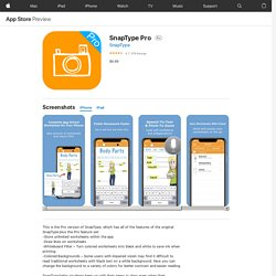 SnapType Pro on the AppStore