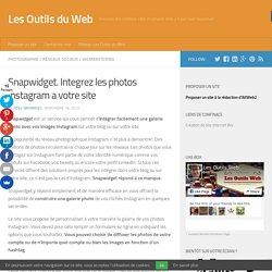 Snapwidget. Integrez les photos Instagram a votre site
