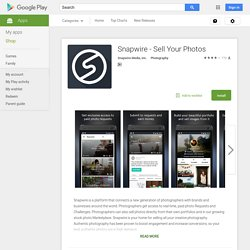 Snapwire - Sell Your Photos – Android Apps on Google Play