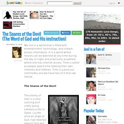 The Snares of the Devil (The Word of God and His instruction)