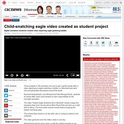 Child-snatching eagle video created as student project - Montreal