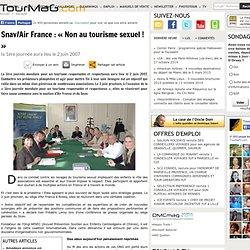 Snav/Air France : « Non au tourisme sexuel ! »
