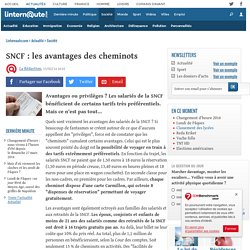 SNCF : les avantages des cheminots