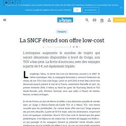 La sncf étend son offre low-cost