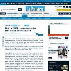 TGV : la SNCF risque d'avoir des concurrents privés en 2019