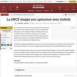 La SNCF stoppe son opération avec Airbnb