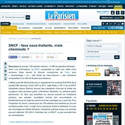 SNCF: faux sous-traitants, vrais cheminots ?