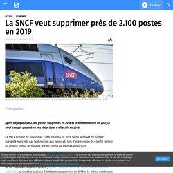 La SNCF veut supprimer près de 2.100 postes en 2019