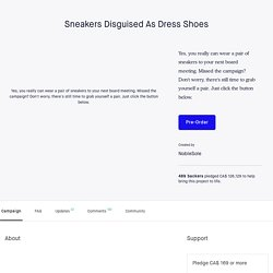 Sneakers Disguised As Dress Shoes by NobleSole
