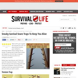 Sneaky Survival Snare Traps To Keep You Alive - Survival Life