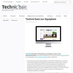 Le SNFPSA lance le site de Technic'baie sur Equipbaie - 10/11/16